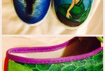 målade skor
