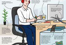 Domácí kancelář / Nápady a inspirace pro design domácí kanceláře.