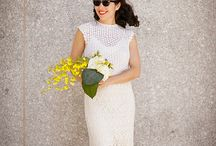 Wedding Dresses: Knitting & Crochet Patterns / These ladies have crafted amazing dresses for their special days