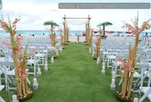 Acqualina Resort & Spa on the Beach Wedding Decor and Floral arrangements / Wedding pictures of a ceremony at the Acqualina Resort & Spa.