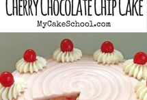 Cherry Cakes, Desserts, and Sweets! / Featuring a collection of the best cherry cakes, desserts, and sweets from My Cake School as well as other fabulous pages! Yum!