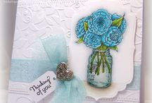 Floral handmade cards