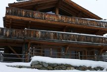 Chalet Maurine - Verbier, Switzerland / Luxury chalet sleeping 16 guests centrally located near the ski lifts and Place Central. Contemporary decor and open planned living space with stunning mountain views and out door hot tub!