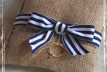 Nautical Wedding / Nautical New England style wedding. navy and white with coral accents.  / by Jessica Miles
