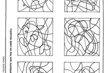 Disgrafia (vonalkövetés, Gestalt látás)