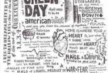 Drawing of green day