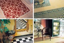 Dolls House Research Floors, Walls and Ceilings / Variety of beautiful floor, wall and ceiling designs