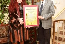 Suryadatta National Awards 2017 / Pioneer of Ayurveda, Organic Beauty Care and Wellness Shahnaz Husain has been conferred the coveted 'Suryadatta National Award 2017' for 'Ayurveda Innovation and Excellence'. She was presented the award by Prof (Dr.) Sanjay B. Chordiya, Founder President and Chairman Suryadatta Group of Institutes in the capital recently. The Award is another Golden feather in her cap!!