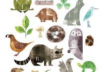 alphabet illust