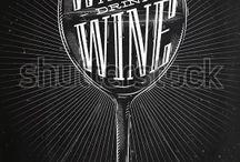 wine graphic blackboard
