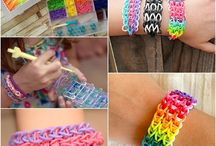Rubber band bracelets / Loom bands and other types of rubber band bracelets out there.