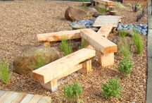 Natural Outdoor Playground / Our mission: create a kid friendly space that promotes physical activity and creative play using natural/recycled materials.