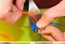 Hacer lazos / Como hacer lazos con tenedores.