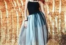 Handmade Skirt From Tulle / Handmade skirt from Tulle, custom order to your preferred size and length.