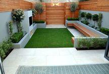 jardim com grama sintética