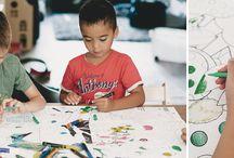 Kids&... DIY! / Wat doen jouw kinderen als het net niet lekker weer genoeg is om buiten te ravotten?  Kleuren, knutselen en stempelen natuurlijk!