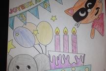Coloriages d'anniversaire Tichoups