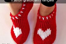chaussons crochets