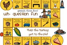 Thanksgiving Activities / A board of activities, games, crafts and ideas to incorporate Thanksgiving into therapy.  Pins that relate to Thanksgiving and target a specific therapy goal are included on this board.