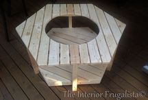 DIY fire pit stand