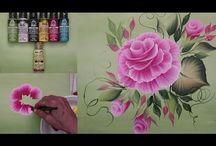 peindre fleurs