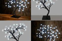 Christmas Tree Decoration Light LED Xmas Beautiful Home Decor White Bonsai Fairy