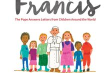 Pope Francis With A Book In Response To Kids Letters / Pope Francis writing children's book, answering kids' letters