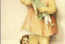 vintage children illustration