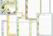 Journal pages printables