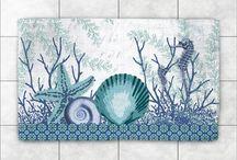 Aquatic Seahorses and Sea Shells