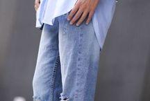 Boyfriend jeans styling