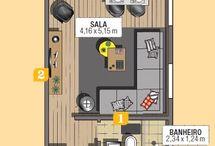 planta baixa e designer de interiores