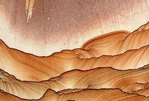 Mineral landscapes / Rocks - Sand - Caves - Mineral - Crystals