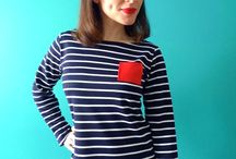 Breton Sewing Inspiration / Fabric and pattern ideas for sewing a Breton top
