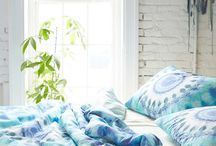 Tie dyed bedding