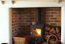 Hjem - peis (fireplace)
