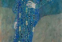 Klimt :Kékruhás hölgy