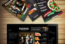 Padrini restaurant / Web layout and promotional materials design
