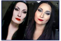 Morticia adams makeup