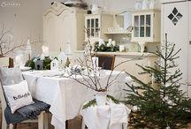Winterwonderland – festlich gedeckter Weihnachtstisch