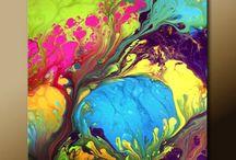 Akrylova malba a techniky / Malovanie obrazov