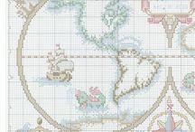 points de croix pays-monde