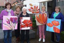 workshop schilderen / workshop schilderen portret bloemen of dieren,  groepje van 5 a 6 personen met lunch