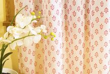 Pink Curtains / Decorative Pink  Curtains - Curtains for Living Room - Hand Block Printed from Attiser / by Attiser