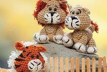 Tiger, løve, kenguru