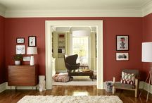 Red living rooms