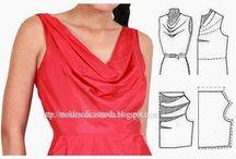 střihy s vodou / halenky a šaty