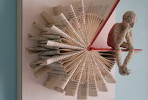 Altered Books / Interesting artwork using found & blank books as a canvas.