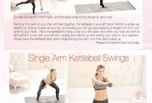 Workout kettle ball / by Julie Schaefer