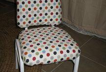 Chairs  metal & vinyl